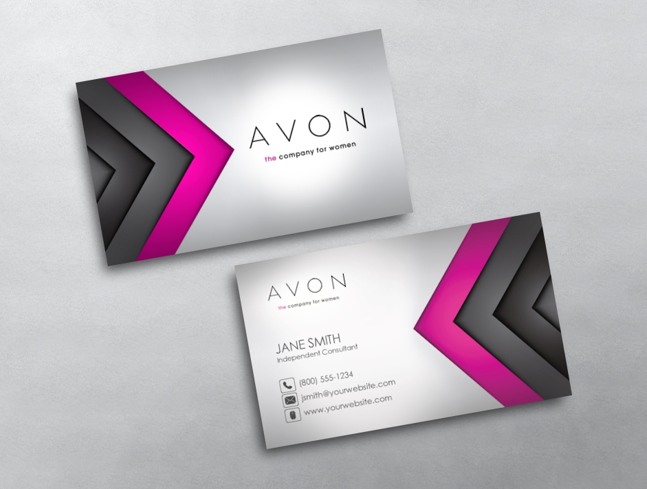 Avon business cards free shipping avon business card 23 reheart Choice Image