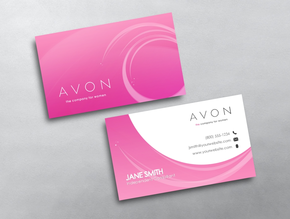 Avon business cards free shipping avon business card 24 reheart Choice Image