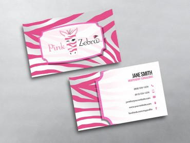Pink zebra business cards free shipping pink zebra business card 04 colourmoves