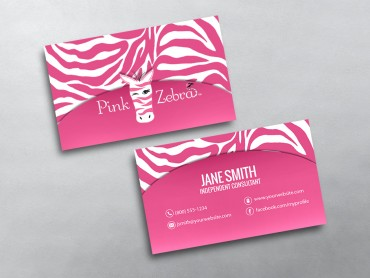 Pink zebra business cards free shipping pink zebra business card 05 fbccfo Image collections