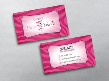 Pink zebra business cards free shipping pink zebra business card 06 colourmoves