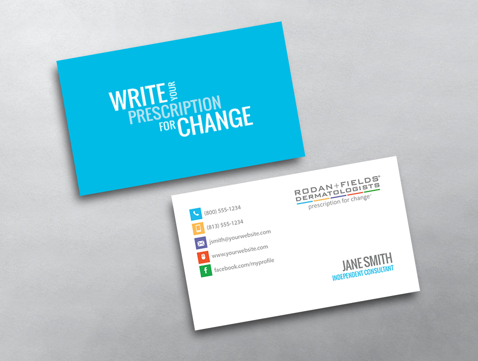 Rodan and fields business cards free shipping rodan and fields business card 01 reheart Image collections