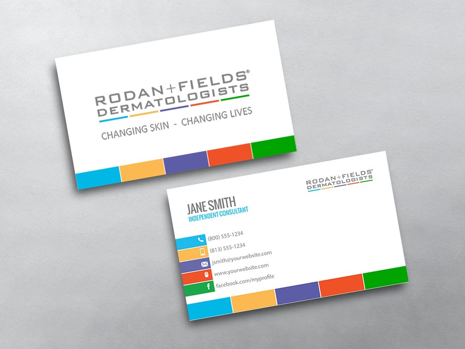 Rodan And Fields Business Cards Template