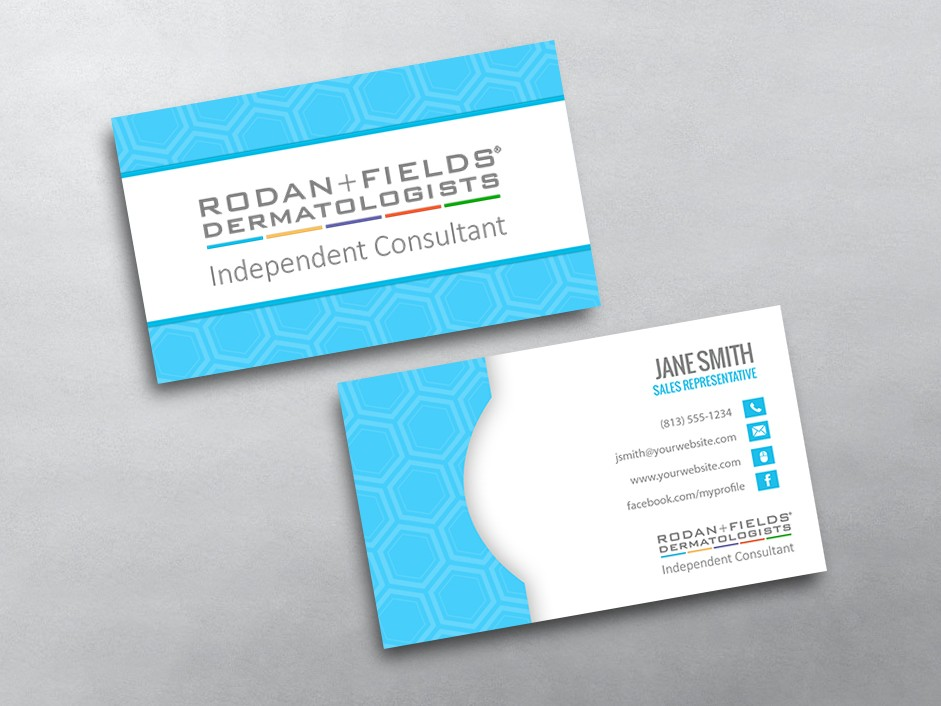 Rodan Fields Business Card Insssrenterprisesco - Rodan and fields business card template