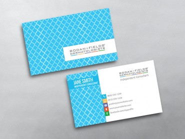 Rodan And Fields Business Cards Free Shipping - Rodan and fields business card template