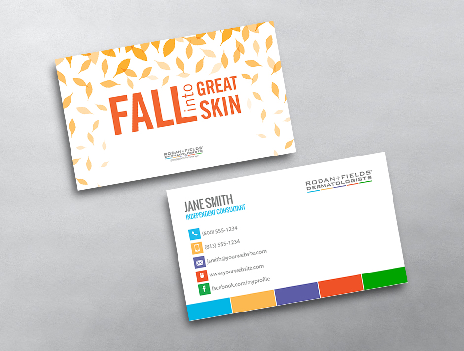Rodan and fields business cards free shipping rodan and fields business card 14 colourmoves
